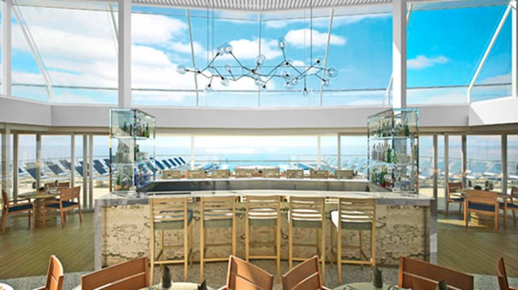 Designed with the experienced traveler in mind, Viking Ocean cruises will maximize time in port, often with late evening departures or overnight stays. Pictured here, an artist's rendering of the view from the Explorer's Lounge.