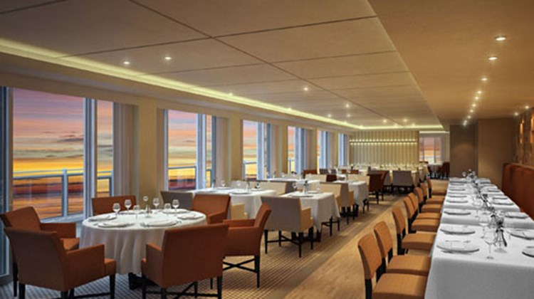 Dining options include a main dining room called the Restaurant (pictured), an intimate Chef's Table, an Italian Grill, a Viking Deli with Scandinavian specialties, a World Cafe and a cooking school and intimate restaurant called the Kitchen Table.