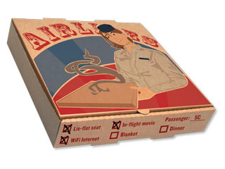 aviation pizza box