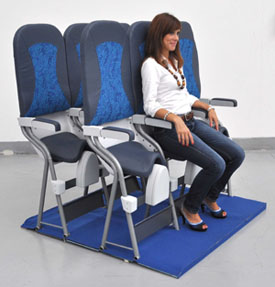 company designs stand up seat says airlines are interested travel