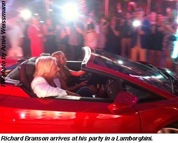 Branson in Lamborghini