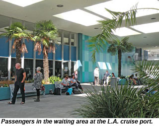 Los Angeles cruise terminal waiting area