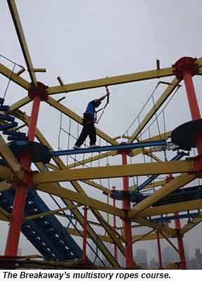 Breakaway ropes course