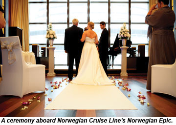 Cruise Weddings Are Big Business Travel Weekly - Wedding on a cruise ship costs