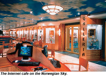 Norwegian Sky Internet Cafe
