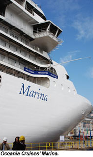 Oceania floats out Marina, names second new ship Riviera: Travel Weekly