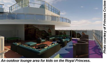 Royal Princess kids lounge