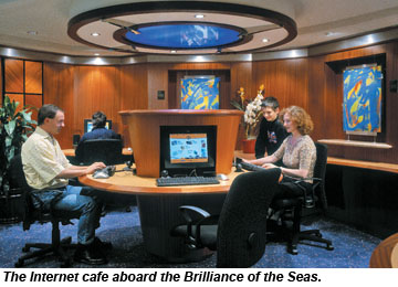 Brilliance of the Seas Internet Cafe