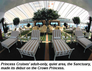 Princess Cruises will add adults-only, quiet areas to its entire fleet by ...