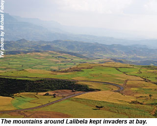 The mountains around Lalibela, Ethiopia