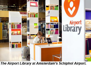 The Airport Library at Schiphol Airport
