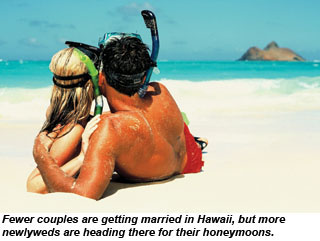 Couple on beach in Hawaii