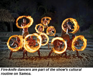 Fire-knife dancers in Ha show at Polynesian Cultural Center