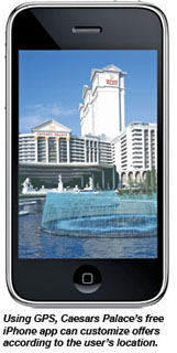 Caesars Palace on the iPhone