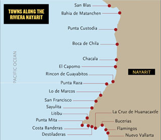 riviera nayarit map