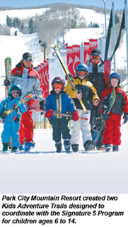 Ski kids at Park City