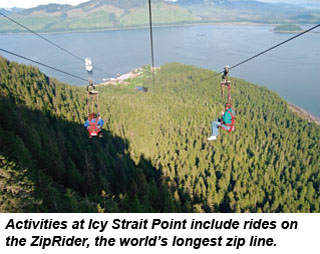 Icy Strait Point zip line
