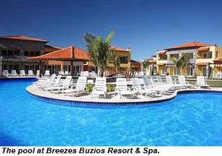 The pool at Breezes Buzios Resort