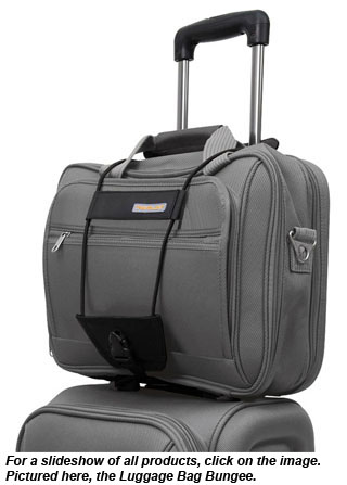For a slideshow of all products, click on the image. Pictured here, the Luggage Bag Bungee.